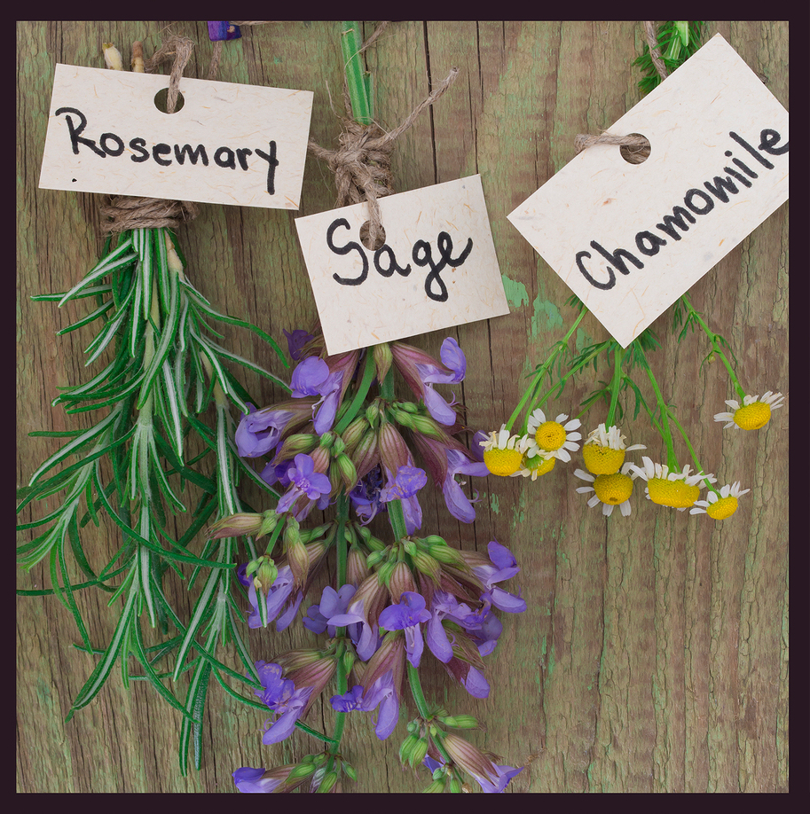 Sage, rosemary and chamomile