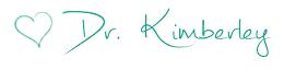 Dr. Kimberley Signature