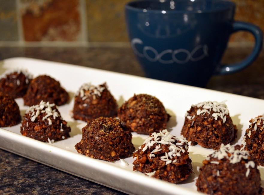 Festive dairy-free chocolate dessert