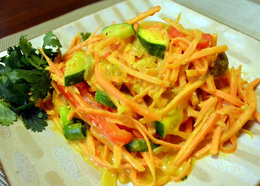 Curried sweet potato pasta