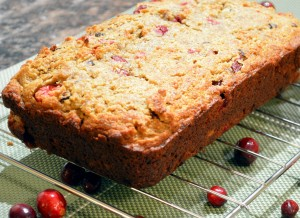 Gluten and dairy-free festive cranberry loaf