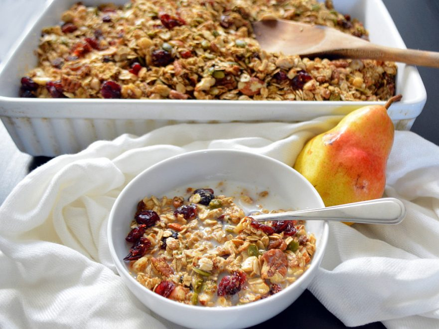 Gluten-free Healthy Fall Spice Granola