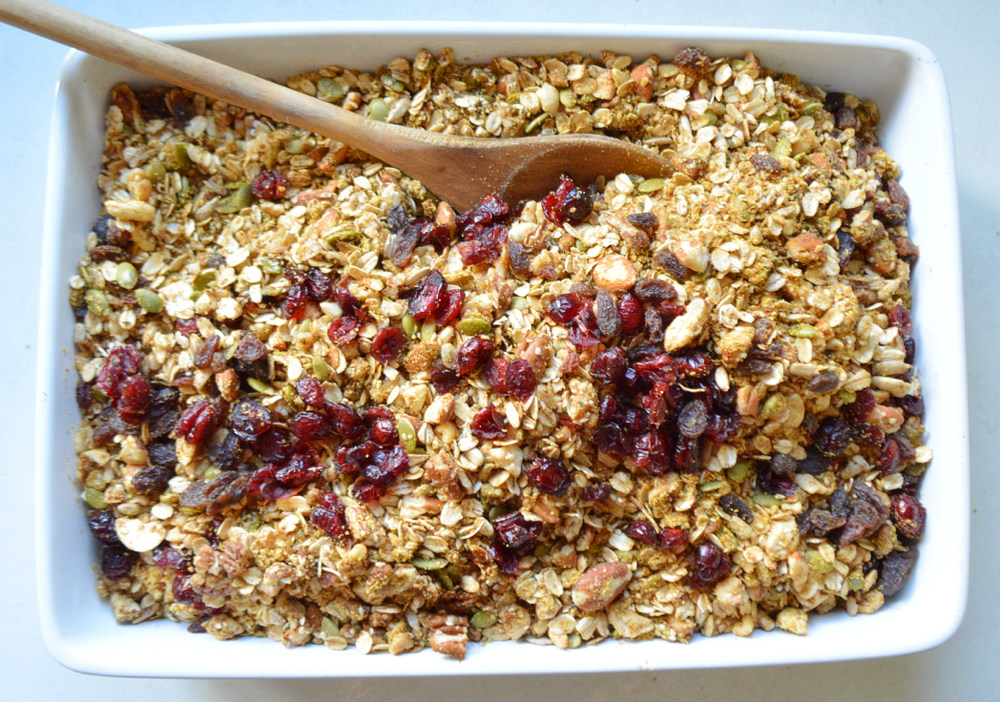 Fall Spice Granola - a healthy gluten-free breakfast perfect for festive occasions!