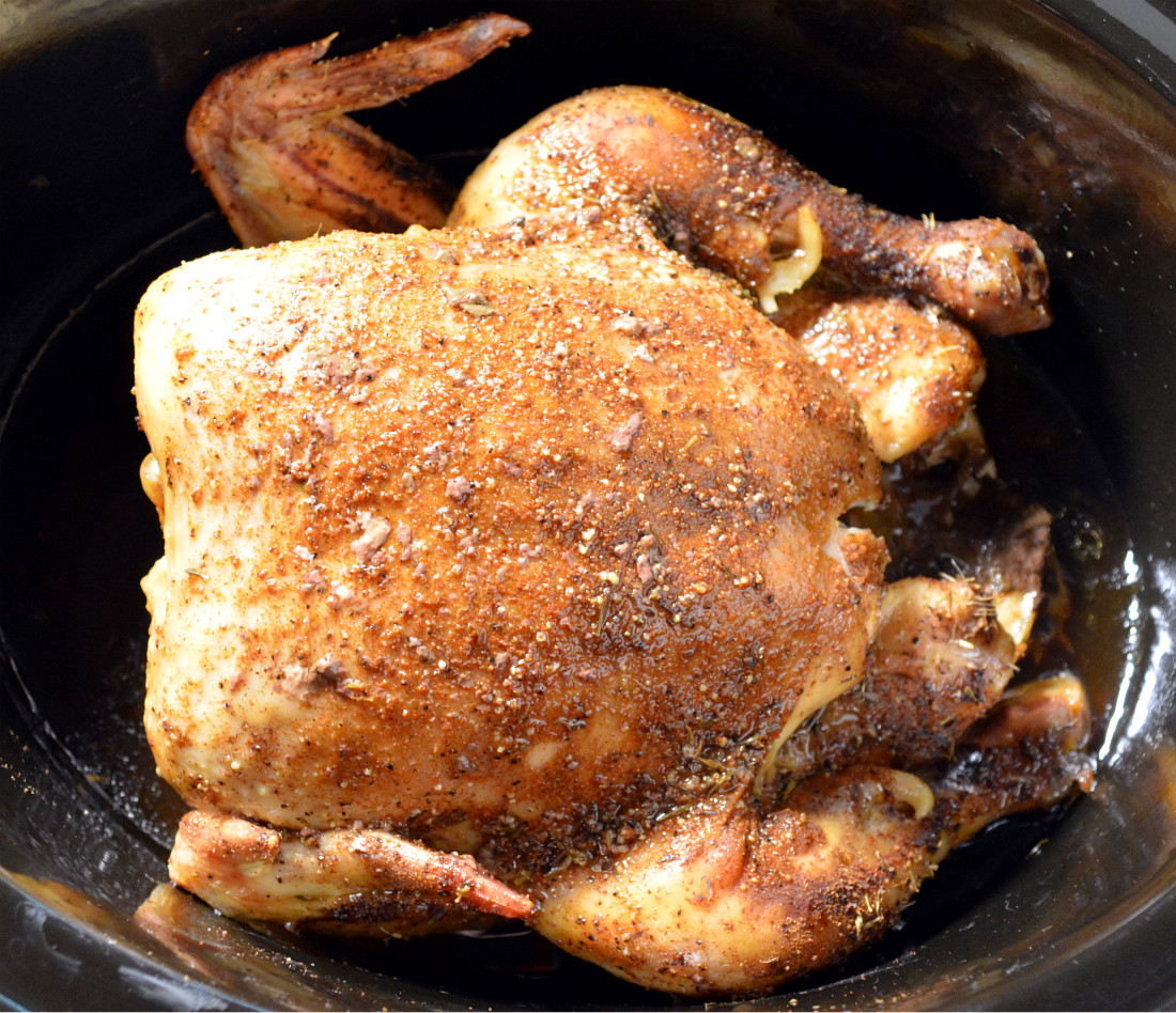Simple Slow Cooker Whole Chicken