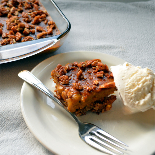 Pecan Pumpkin Pie Bars - Gluten and dairy-free!