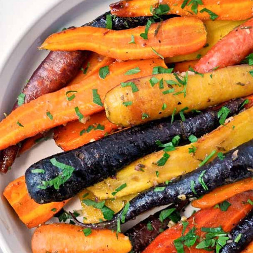 Roasted Carrots with Honey Mustard Glaze