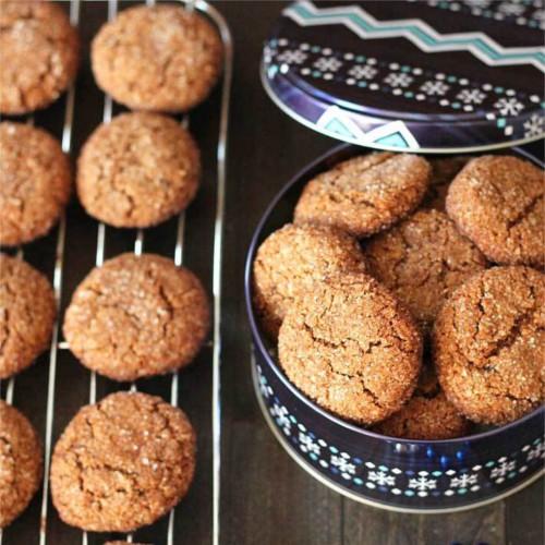 Chewy Vegan Gluten Free Gingerbread Cookies