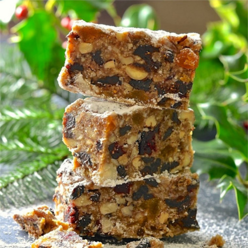 Christmas Fruitcake - Raw, Vegan & Gluten-Free