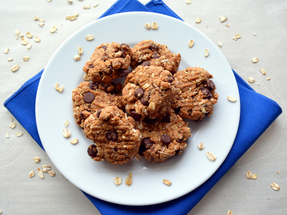 Chocolate Peanut Butter Oatmeal Cookies - gluten-free, vegan, dairy-free, egg-free