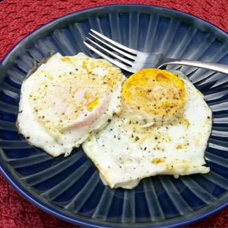 Farm fresh eggs right from the chicken coop!