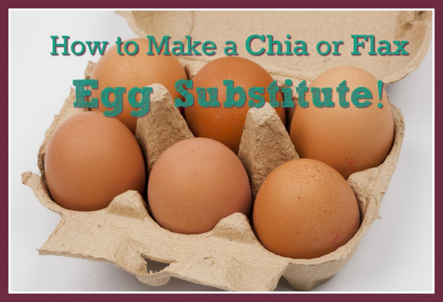 How to make a chia or flax egg substitute