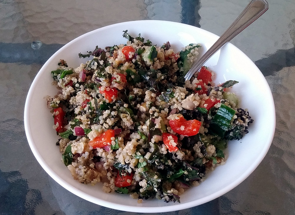 Quinoa salad makes a great meal for road trips!