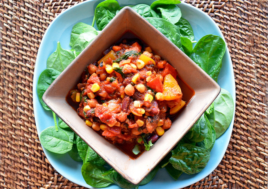Simple vegetarian chili
