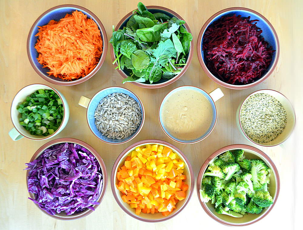 Buddha Bowl Ingredients