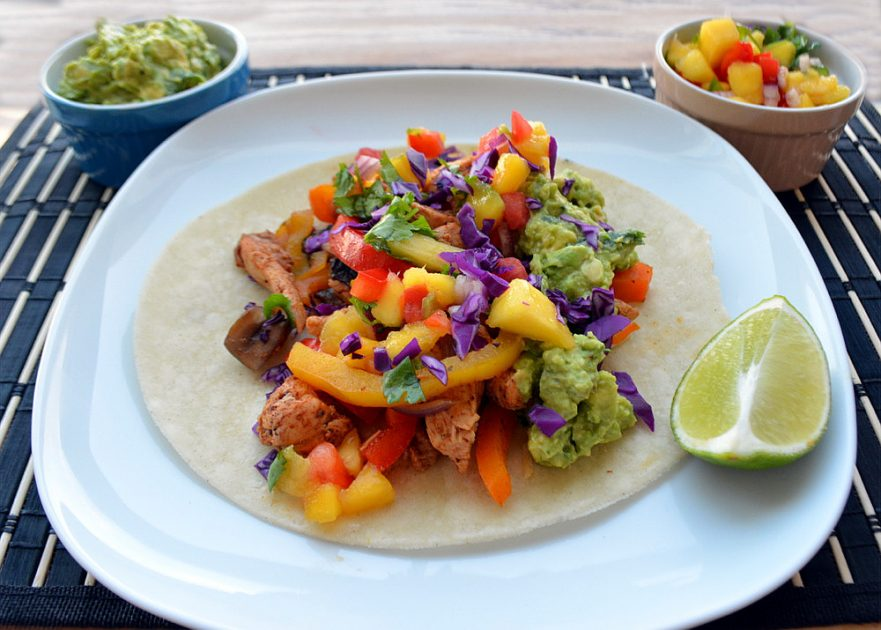 Gluten & Dairy-Free Chicken Fajitas with Tropical Mango Salsa