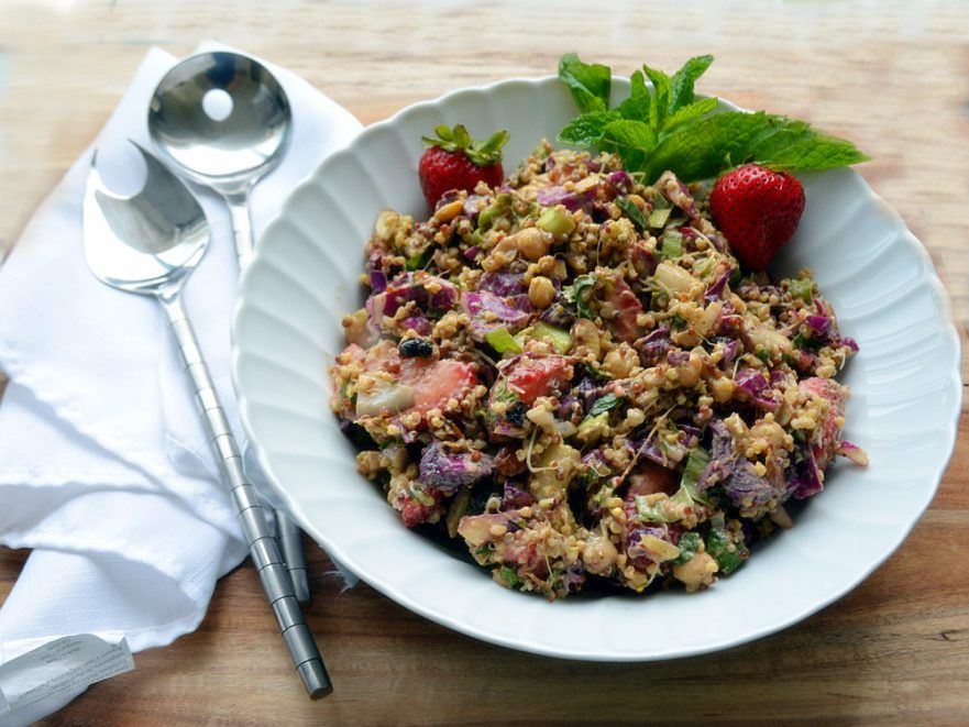 Gluten and dairy-free quinoa salad