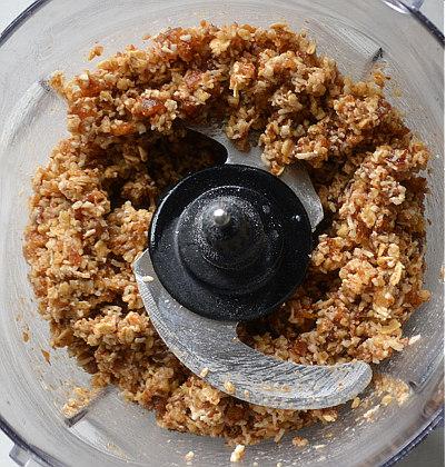 Add eggs to finish the Pecan Pumpkin Pie Bar crust