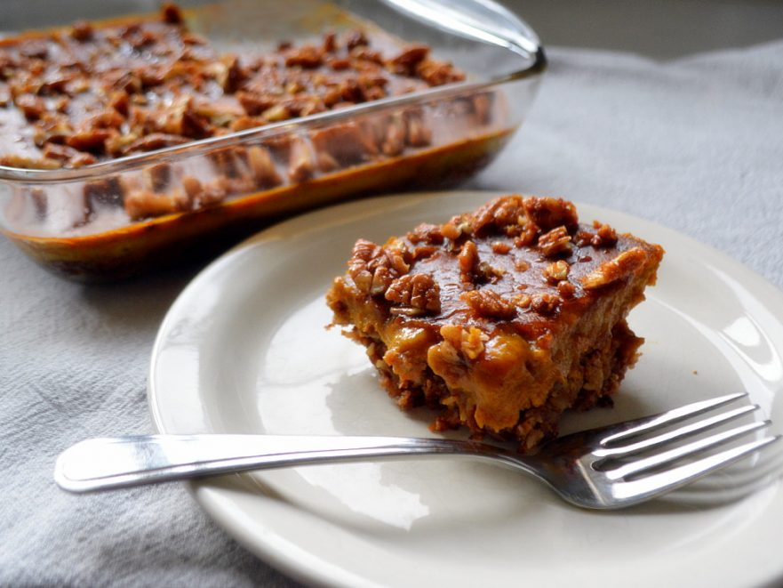 Gluten and dairy-free Pecan Pumpkin Pie Bars