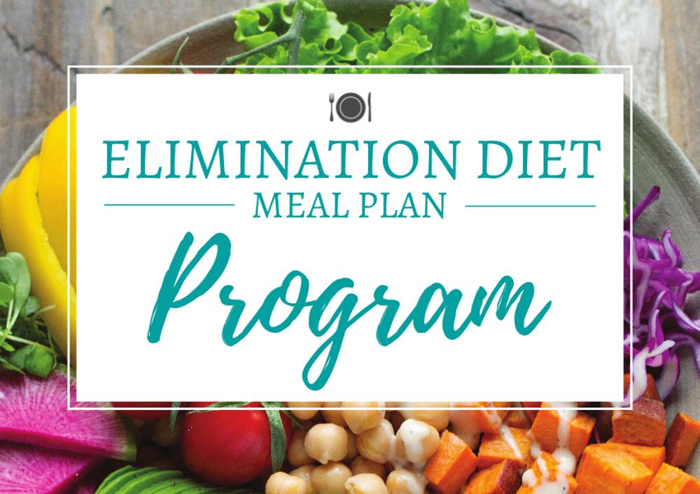 Elimination Diet Meal Plan Program