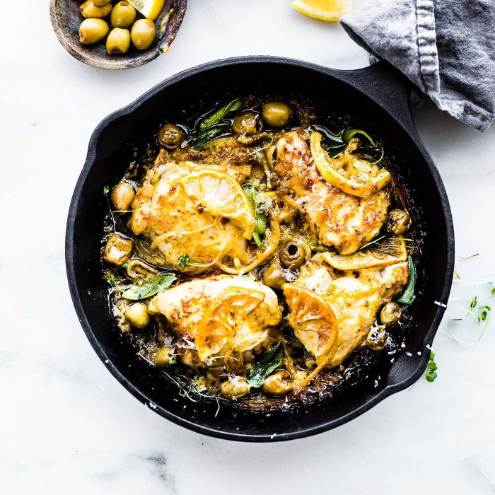 One Pan Lemon Sage Baked Chicken