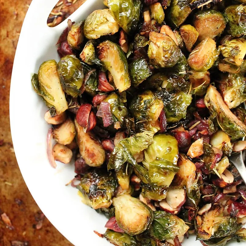 Maple Balsamic Brussels Sprouts - One of 25 Delicious Gluten and Dairy-Free Healthy Potluck Dishes!