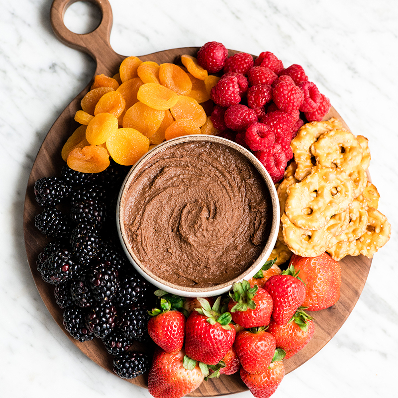 Chocolate Hummus One of 25 Delicious Gluten and Dairy-Free Healthy Potluck Dishes!