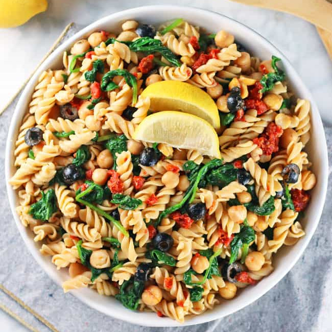 Vegan Pasta Salad - One of 25 Delicious Gluten and Dairy-Free Healthy Potluck Dishes!