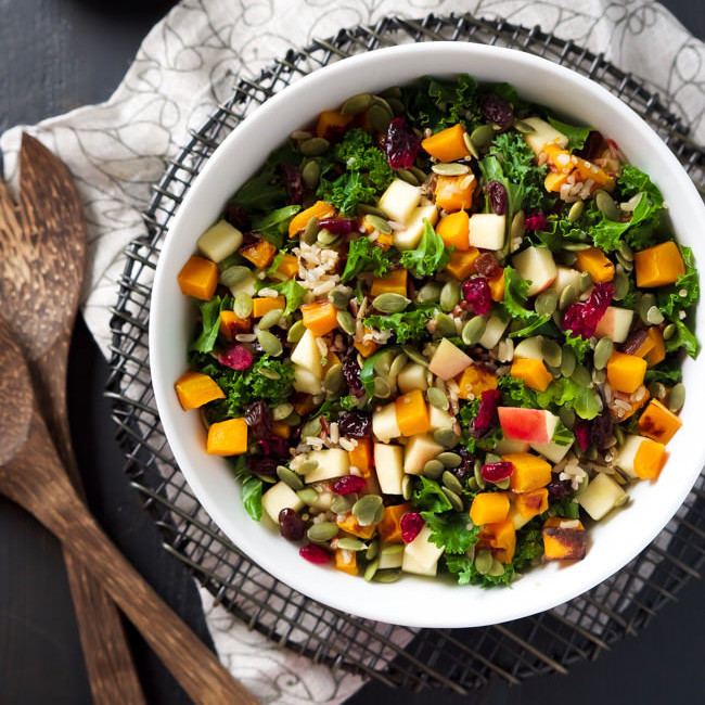 Fall Harvest Salad - One of 25 Delicious Gluten and Dairy-Free Healthy Potluck Dishes!