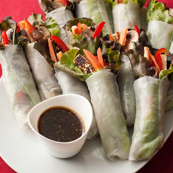 Fall Spring Rolls - One of 25 Delicious Gluten and Dairy-Free Healthy Potluck Dishes!