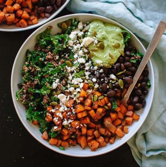 Kale Power Salad - One of 25 Delicious Gluten and Dairy-Free Healthy Potluck Dishes!
