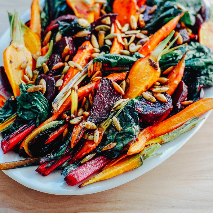 Roasted Vegetable Salad - One of 25 Delicious Gluten and Dairy-Free Healthy Potluck Dishes!