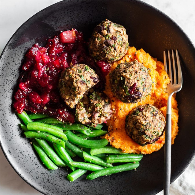 Bread-Free Stuffing Balls - One of 25 Delicious Gluten and Dairy-Free Healthy Potluck Dishes!