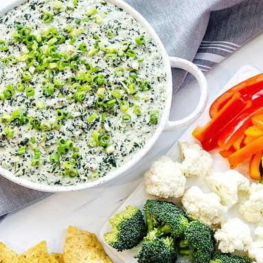 Vegan Spinach Dip -One of 25 Delicious Gluten and Dairy-Free Healthy Potluck Dishes!