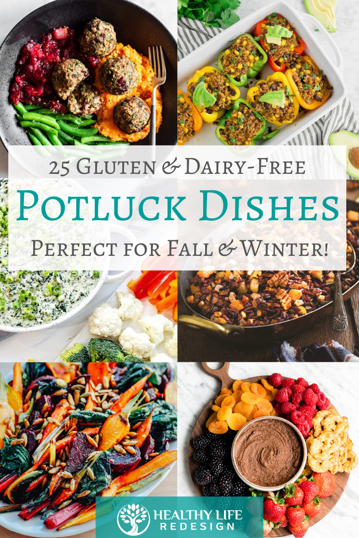 25 Gluten and Dairy-Free Potluck Dishes - Perfect for Fall & Winter Holiday Gatherings!
