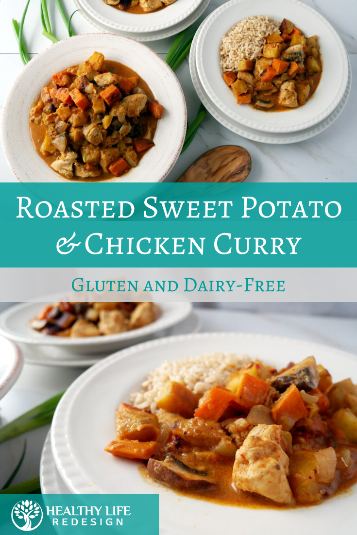 Roasted Sweet Potato and Chicken Curry - Delicious Gluten and Dairy-Free Dinner!