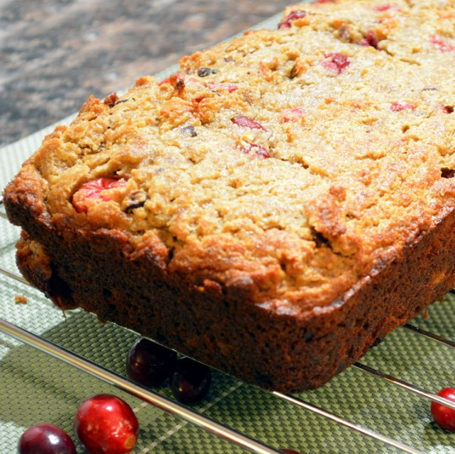Dairy-Free Holiday Desserts: Warm Banana Spice Loaf with Cranberries