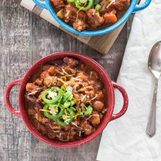Healthy Slow Cooker Recipes: Slow Cooker Turkey Chili