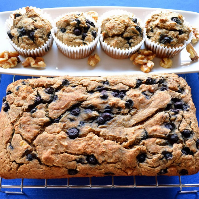 Healthy Snack Recipes: Banana Blueberry Muffins