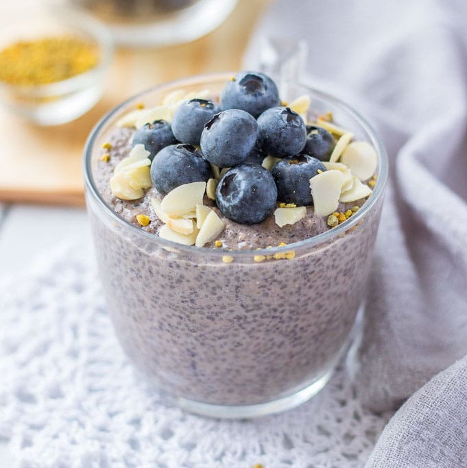Healthy Snacks Recipes: Blueberry Chia Pudding