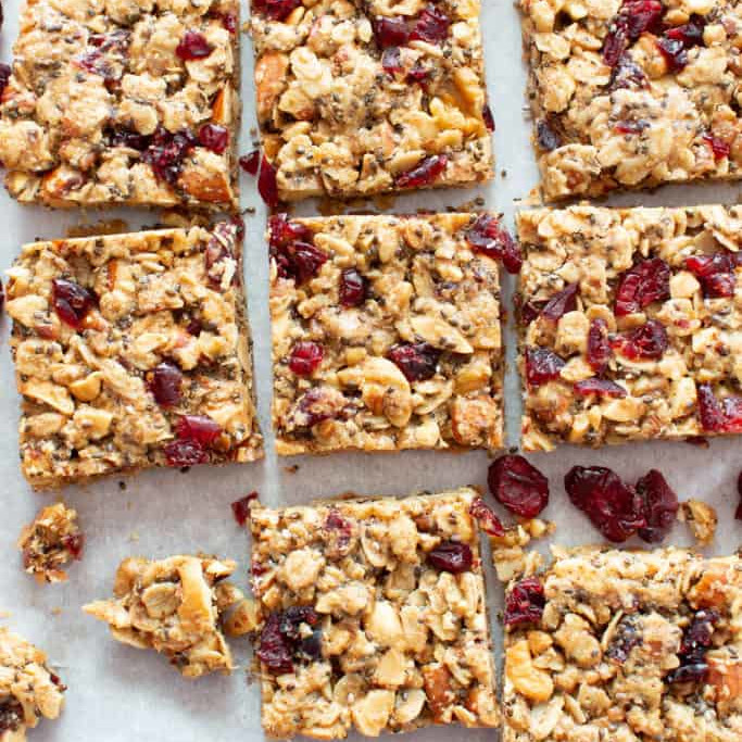 Healthy Snack Recipes: Cranberry Chia Bars