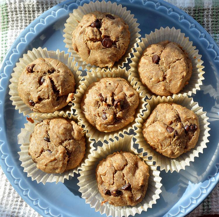 Maple Walnut & Banana Chocolate Chip Muffins