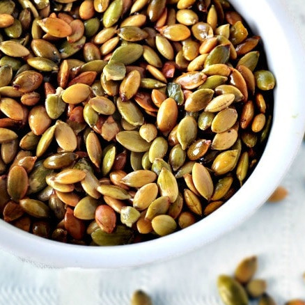 Healthy Snack Recipes: Simple Roasted Pepitas