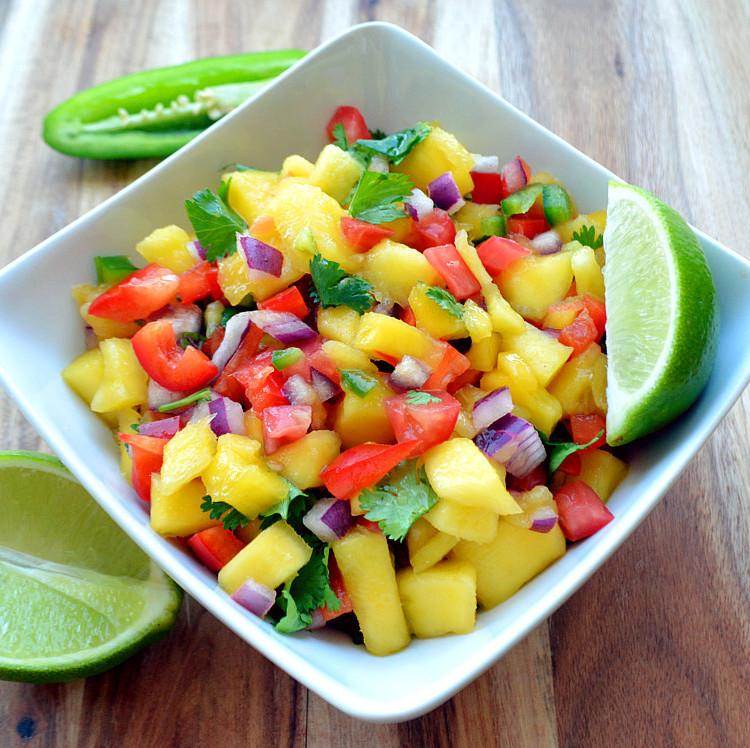 Healthy Snack Recipes: Tropical Mango Salsa