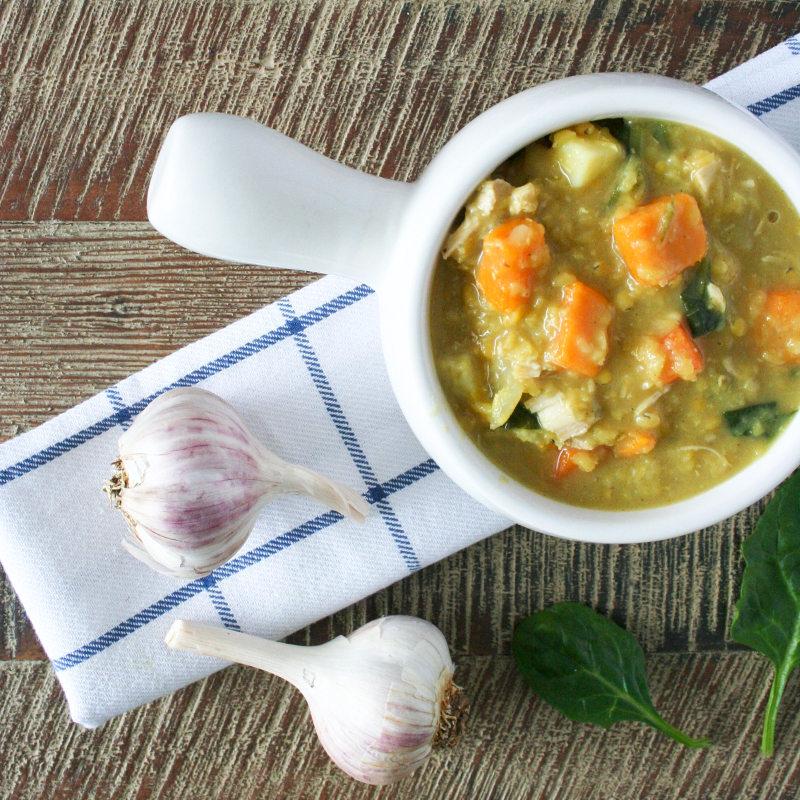 Creamy Curried Lentil Soup