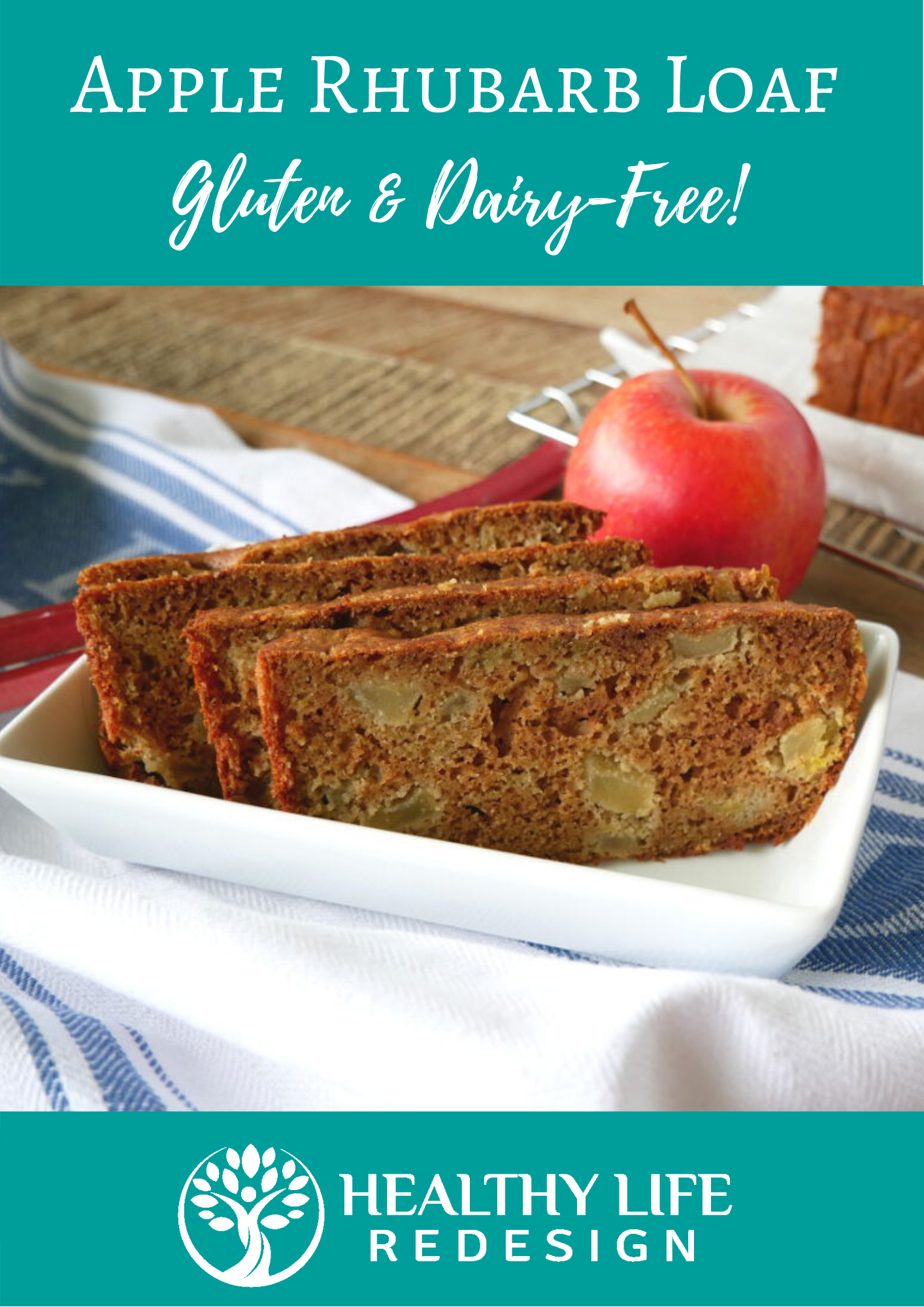 Gluten and Dairy-Free Apple Rhubarb Loaf