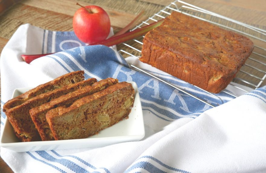 Apple Rhubarb Loaf - Gluten and Dairy-Free
